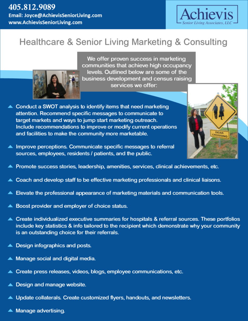 Healthcare & Senior Living Marketing & Consulting